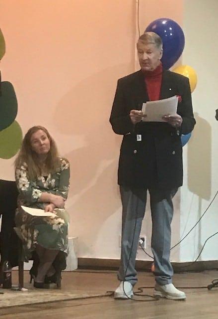 Burdekin CEO Justene Gordon and Patron Prof Brian Burdekin, AO